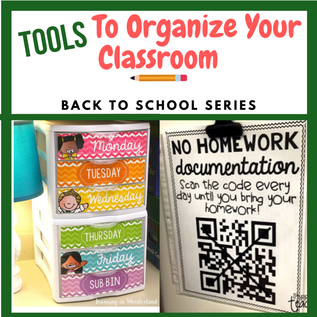 Tools to Organize Your Classroom blog post image