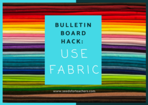 Use fabric on your bulletin boards!
