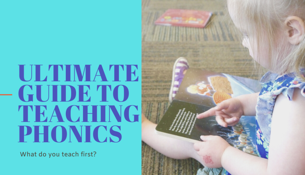 Picture of a girl reading a book to advertise the Ultimate Guide to Teaching Phonics