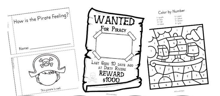 Pirate Learning Activities