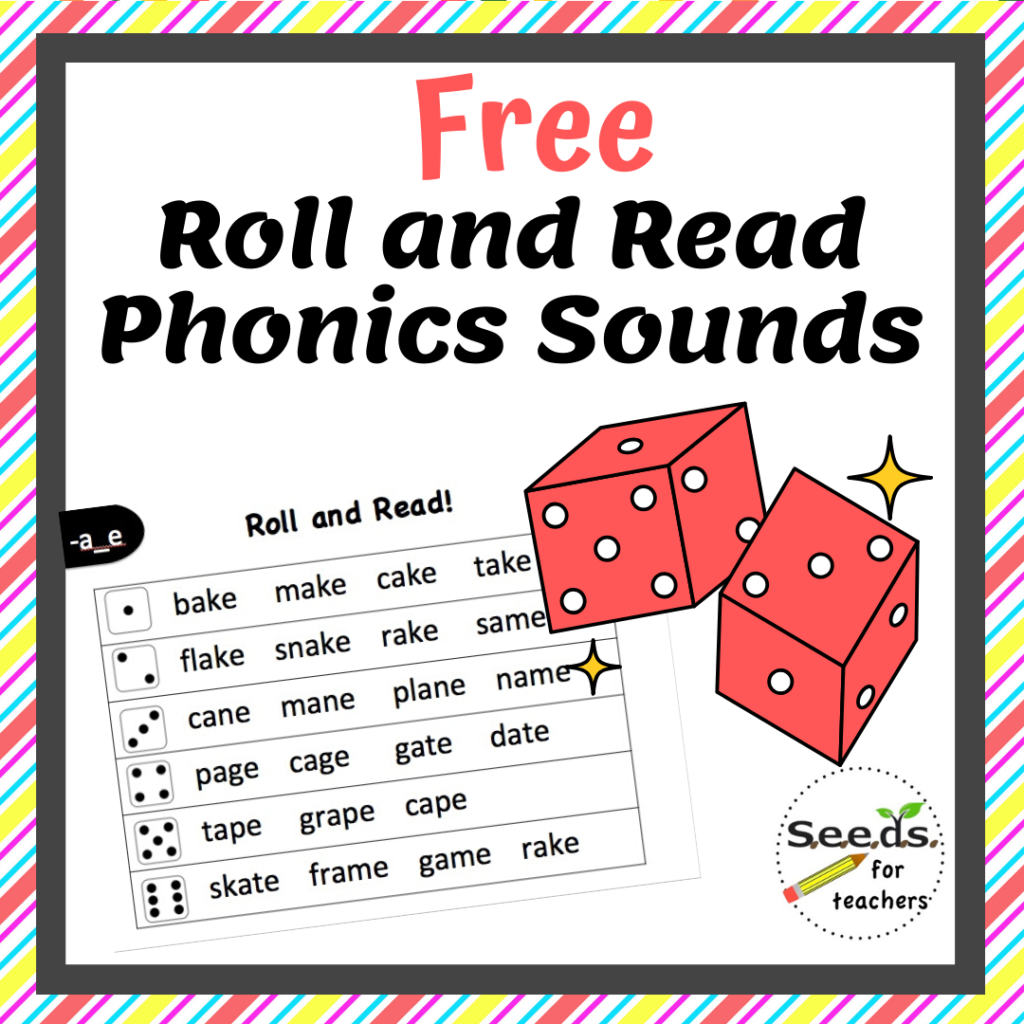 Roll and Read Phonics Games- Free