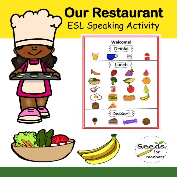 Resaurant ESL activity